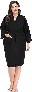 Salon Robes Smock for Clients, Hair Salon Client Gown Cape-Large Size-Black