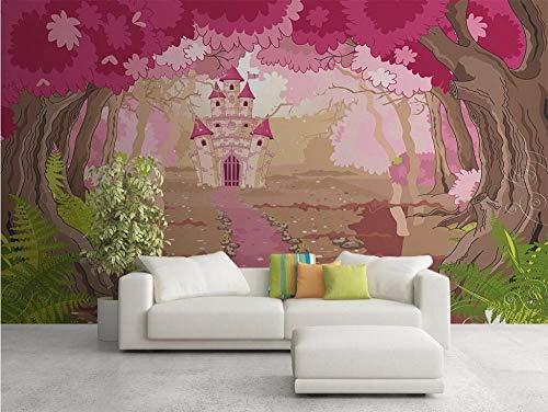 MINCOCO behang op maat foto fris en mooi jungle sprookje kinderkamer achtergrond decoratie behang muurschildering 430 x 300 cm.