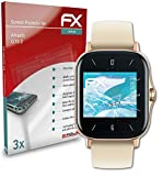atFoliX Película Protectora Compatible con Amazfit GTS 2 Protector Película, Ultra Claro y Flexible FX Lámina Protectora de Pantalla (3X)