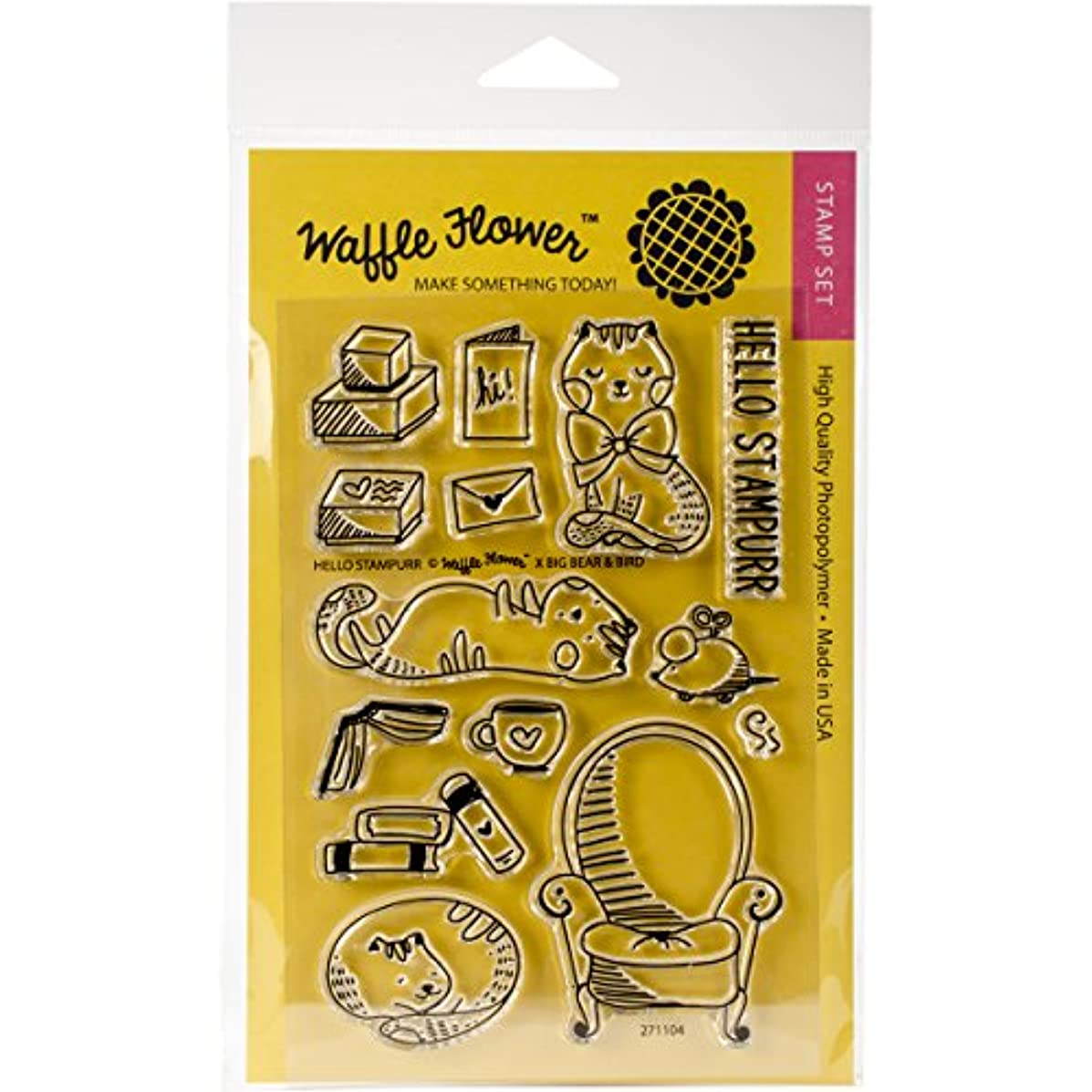 Waffle Flower Clear Stamp Set - Hello Stampurr