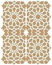 Medida Exterior 20 x 20 cm Medida del dise/ño:16,9 x 17,5 cm TODO-STENCIL Deco Vintage Composici/ón 153 Jaulas Medidas aproximadas
