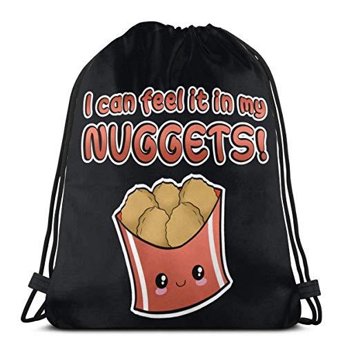 My Nuggets - Mochila con cordón para hombre y mujer, 36 x 43 cm