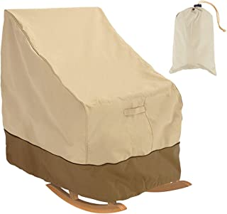 cherry Juilt Patio Rocking Chair Cover Waterproof Outdoor Furniture Protector Rocker Chair Cover Weather & UV Resistant 38 Inch L x 33 Inch Deep x 27 inch H