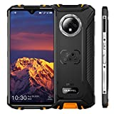 "OUKITEL WP8 Pro Rugged Smartphone, 6.49"" Display, 4GB 64GB Dual SIM IP68 Waterproof Unlocked Cell Phones, 16MP Triple Camera Android 10, 5000mAh Battery Face/Fingerprint ID, GPS NFC, Orange"