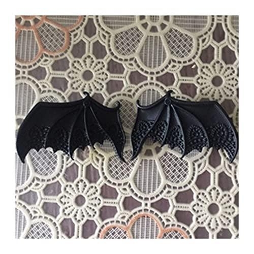 PYBH Pinzas para el pelo con alas de murciélago de vampiro para mujer, estilo punk gótico, de aleación vintage, para niñas y chicas, accesorios para el cabello (color negro)