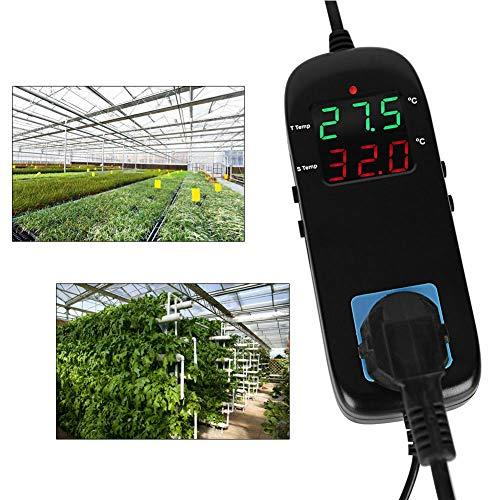 Regolatore di temperatura digitale per microcomputer, termostato elettronico con display LCD e presa per frigoriferi, fattorie, laboratori scientifici