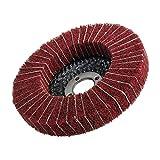 10pcs de nylon abrasivo de pulido for pulir fibra Flap rueda de disco Dia.100 mm de fibra de nylon de la rueda de pulido Flap para coche, pulidor y depilación (Color : Red)