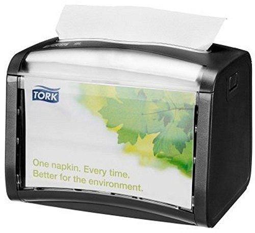 Tork SCA Xpres snap Signature Napkin Dispenser 623200, Black, 8 x 6.5 x 6.5 inches