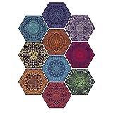 Hexágono pegatinas Azulejo de pared árabe Hexago Set de pegatinas de suelo - 20 x 23 cm (7,87 x 9,05 pulgadas) Arte de bricolaje, calcomanías, Decoración, Decoraciones para el hogar de cocina, baño, P