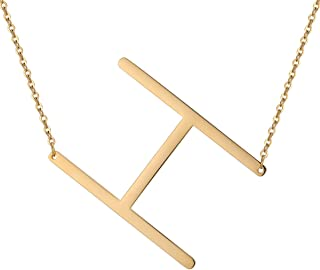 slanted initial necklace