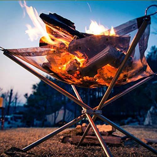 WARM home Handig RVS draagbare outdoor vouwbarbecue tool grill, ultra-licht rooster oven, gemakkelijk te gebruiken