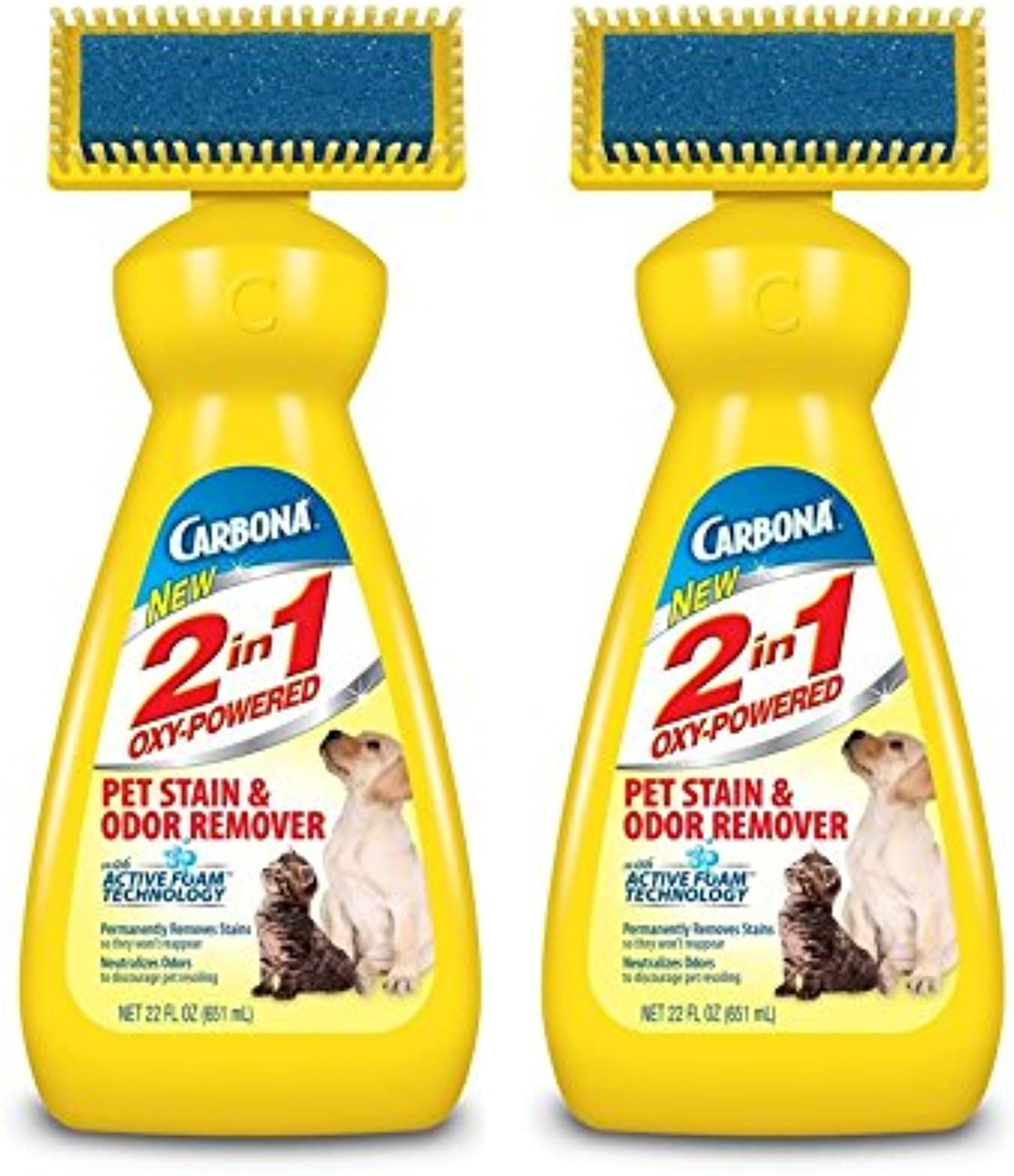 Carbona 2 in 1 OxyPowered Pet Stain, Pack of 2