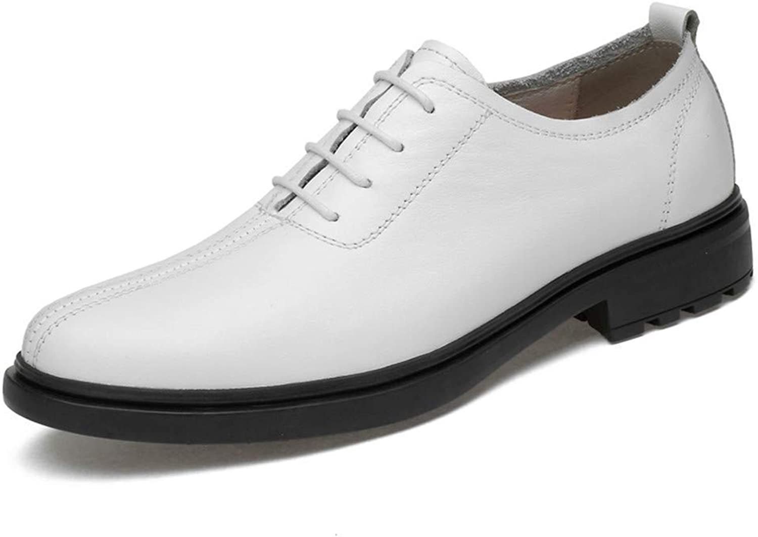 2018 Männer Business Oxford Schuhe, Casual Casual Casual Soft Light Herren Atyle Low Top Runde Formale Schuhe (Farbe   Schwarz, Größe   39 EU) (Farbe   Weiß, Größe   40 EU)  d831d4