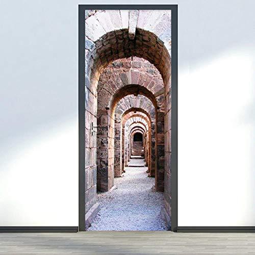 Mural De Puerta 3Dvinilos Para Puertas Arcos De Piedra Arquitectónicos