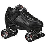 Product Image of the Roller Derby Stomp Factor 5 Black Quad Skates Color Green Size 4