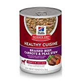 Hill's Science Diet Adult Sensitive Stomach and Skin Canned Wet Dog Food Variety Pack,Braised beef & Carrot & Peas 12.8 oz Cans, 12 pk, White