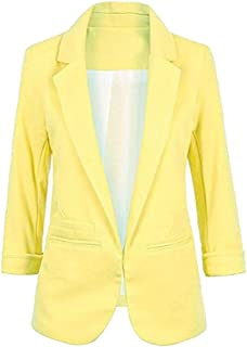 fb09f6d0c28 Imbry Boyfriend Blazers for Women Cool and Fashionable Casual Suit Coat  Jacket