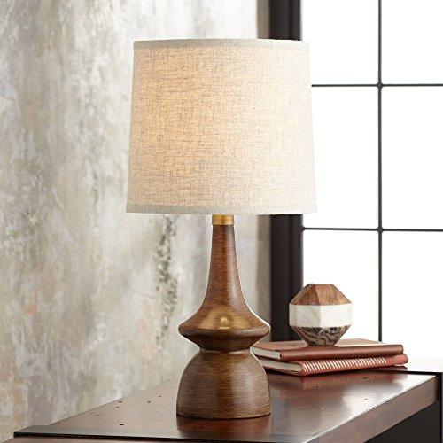 Walnut Metal Table Lamp - 4