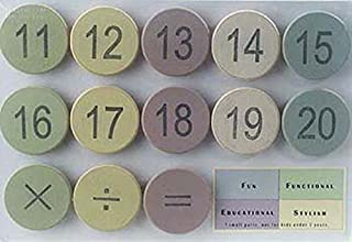 Tree by Kerri Lee Numbers Pastel Wooden Magnets (Set/26)