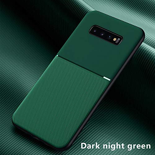 NiceGuu Luxury Silicone Magnetic Holder Phone Case for Samsung Galaxy S20 S10 E S9 Note 10 9 Plus Ultra-Thin Leather Cover Coque (Green, for Galaxy S10e)
