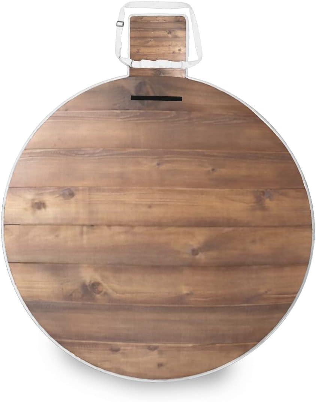 Picnic Mat Bargain sale Outdoor Moisture-Proof OFFer Brown Woode Plank Non-Slip