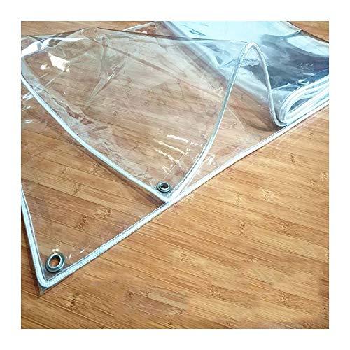 YONGQUAN Claro Lonas Impermeable Lona Alquitranada Cubrir PVC Tienda Tarea Pesada Película Protectora Al Aire Libre for Acampar Pesca Jardinería (Color : Clear, Size : 1.5×2m)