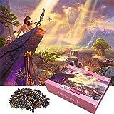 Rompecabezas para Adultos 1000 PS Puzzle Decoración del Hogar Juegos de Diversión Familiar Rompecabezas de Piso Juguete Educativo para Niños, 27.5''x 19.7 ''(Rey Leon)