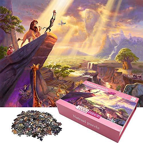 Puzzle per Adulti 1000 Pezzi Jigsaw Puzzle Decorazione della casa Puzzle Giochi Divertimento per la Famiglia Giocattolo Educativo per Bambini, Miglior Regalo, 27,5 '' x 19,7 ''(Re Leone)