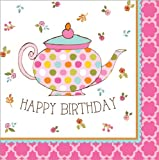 Tea Time Luncheon Napkin Happy Birthday (16) Party Supplies
