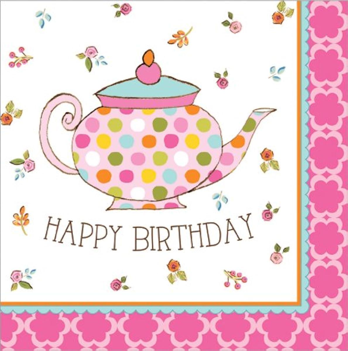 Tea Time Luncheon Napkin Happy Birthday (16) Party Supplies