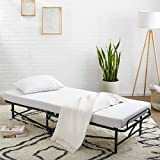Amazon Basics Rollaway Folding Guest Bed with 4-inch Memory Foam Mattress - Cot size, 75'' x 31''
