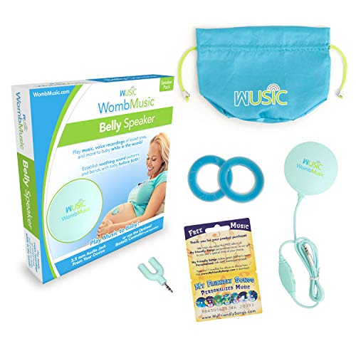 WombMusic Pregnancy Belly Speaker - [Belly Speaker Only - BT Controller NOT Included] - Play Soothing Music & Sounds to Baby with Prenatal Baby-Bump Headphones for Pregnant Women - Great Shower Gift
