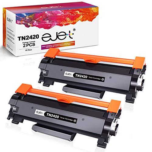 ejet TN-2420 Toner Kompatibler für Brother TN2420 TN-2410 für Brother MFC-L2710DW HL-L2350DW DCP-L2530DW HL-L2370DN DCP-L2510D HL-L2375DW HL-L2310D MFC-L2730DW L2550DN Drucker (2 schwarz)