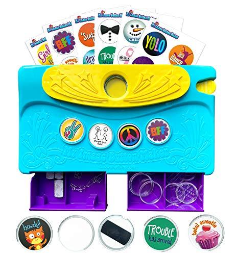 Choose Friendship, My Image Button Maker, Kids Badge Button Kit, Blue/Yellow
