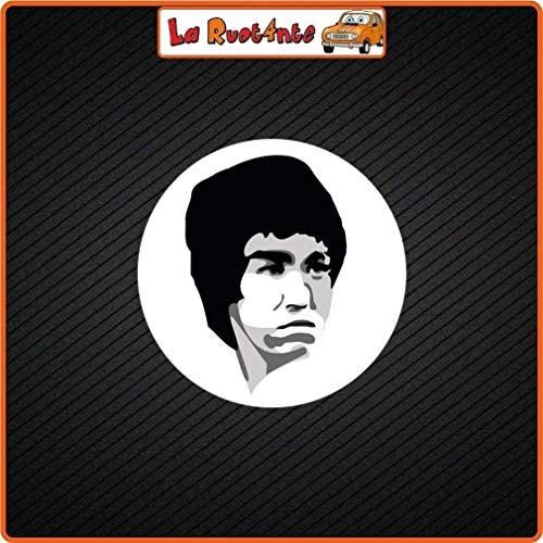 La Ruotante 2 Stickers Bruce Lee (Vinyl) Auto Motorbike Vespa Fietshelm koffer 20x20 Cm