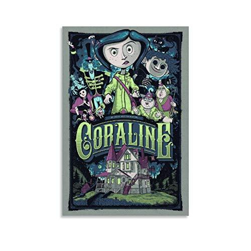 Coraline & The Secret Door - Lienzo decorativo para pared (60 x 90 cm)