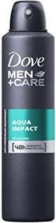6 x DOVE 150g MEN+CARE DEODORANT AQUA IMPACT