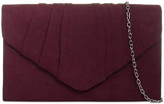UKFS Damen Herbst Designer Samt-Umschlag-Abend-Handtasche Handtasche