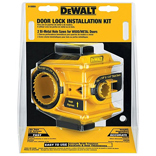 DEWALT Door Lock Installation Kit, Bi-Metal (D180004)