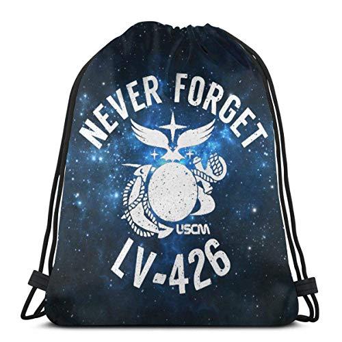 BXBX nie vergessen Uscm LV426 Kordelzug Rucksack Rucksack Umhängetaschen Gym Bag