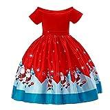 Angelof Accessoires De NoëL - Costume Tailleur Enfants - Robe du Soir Manches Courtes Un Collier De Mot Circular Crinoline...
