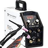STAHLWERK CT550 ST - kompaktes WIG/MMA Schweißgerät mit Plasmaschneider bis 12mm, 200 Ampere WIG/MMA + 50 Ampere CUT, 5 Jahre Garantie, weiß