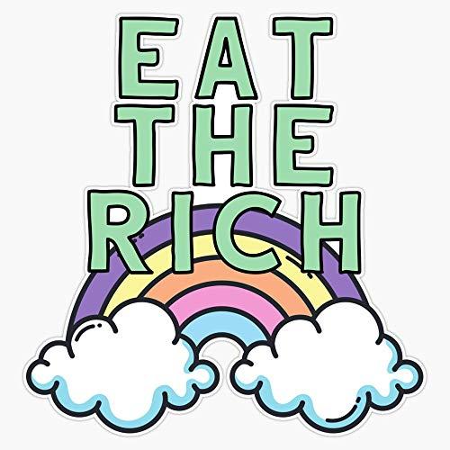 Eat The Rich Sticker Vinyl Bumper Sticker Decal Waterproof 5