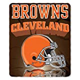 NFL Cleveland Browns Gridiron Fleece Throw, 50-inches x 60-inches