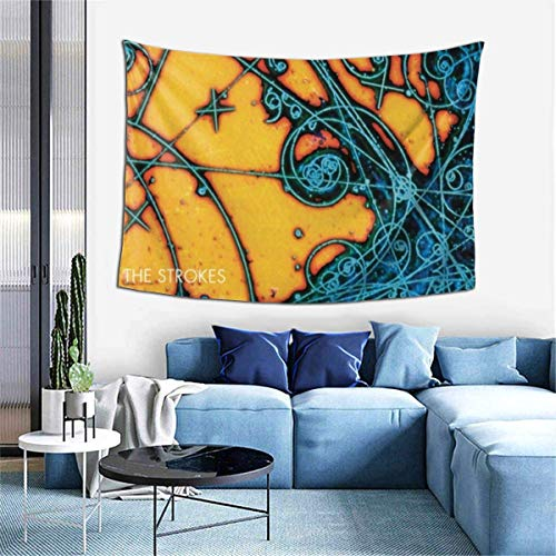 Lawenp Manta Decorativa The Strokes is This It LP Wall Decoration Tapestry Exclusive Wall Hanging Multi Purpose 60x40 Inches Horizontal Wall Backdrop Blankets for Living Room Bedroom .One Size
