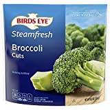One 10.8 oz bag of Birds Eye Steamfresh Broccoli Cuts Frozen Vegetable Frozen cut broccoli is a quick, easy side dish option Flash frozen broccoli locks in fresh flavor Steamable broccoli contains nothing artificial Microwave in the bag or cook on th...