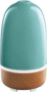 Ellia Rise Ultrasonic Aroma Diffuser | Essential Oils Diffuser, Relaxing Sounds, Mood Lighting, Ceramic & Wood | Blue