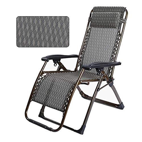 QQXX ligstoel, kantelbaar, kantelbaar, zitting, inklapbaar, zwaartekracht 1 houder voor dranken, kleur: blauw Folding Chairshgt104r-1 Folding Chairshgt104r-1