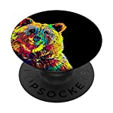 Grizzly Bear Colored PopSockets PopGrip: Swappable Grip for Phones & Tablets