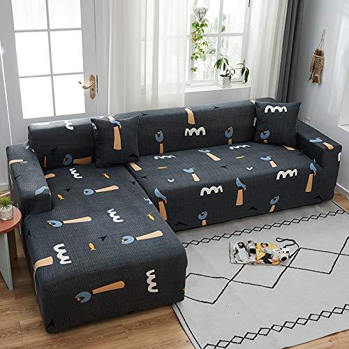 PPMP Funda de sofá elástica elástica, Utilizada para la Funda de sofá de Spandex de la Sala de Estar, Funda de sofá, Toalla de sofá elástica, Forma de L, Funda de sofá A6 de 2 plazas